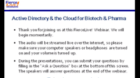 Active Directory & the Cloud for Biotech & Pharma