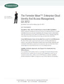 Forrester Wave:  Cloud Identity Management, Q3 2012