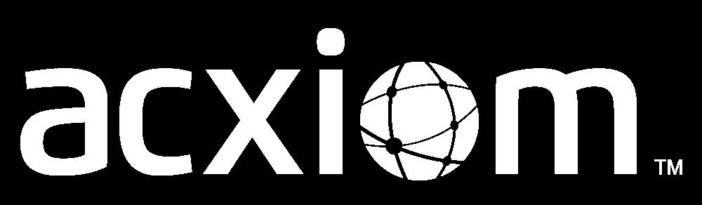 Acxiom logo white