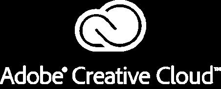 Adobe Creative Cloud logo white