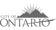 City of Ontario logo grayscale