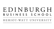 Edinburgh business school logo grayscale