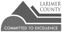 Larimer County logo grayscale