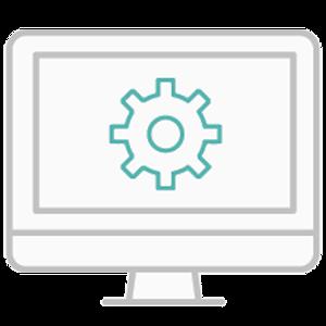 Okta B W Manufacturing Icon