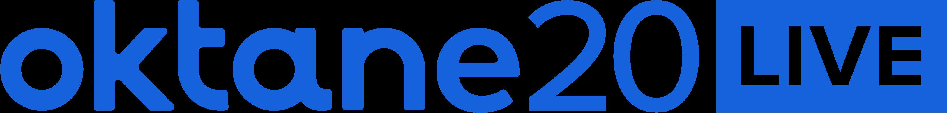 Oktane20 Live Logo Blue