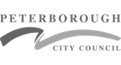 Peterborough City council logo grayscale