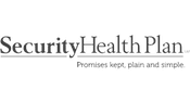 Security Health Plan of Wisconsin logo grayscale