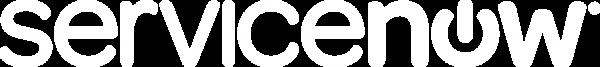 ServiceNow logo white