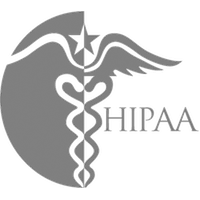 hipaa logo grayscale
