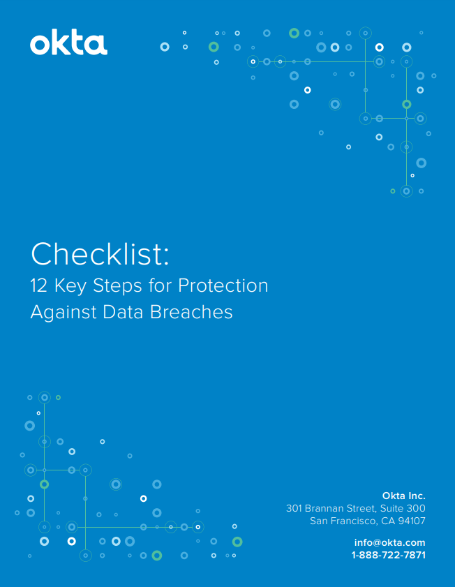 12 key steps for protectoin against data breaches.