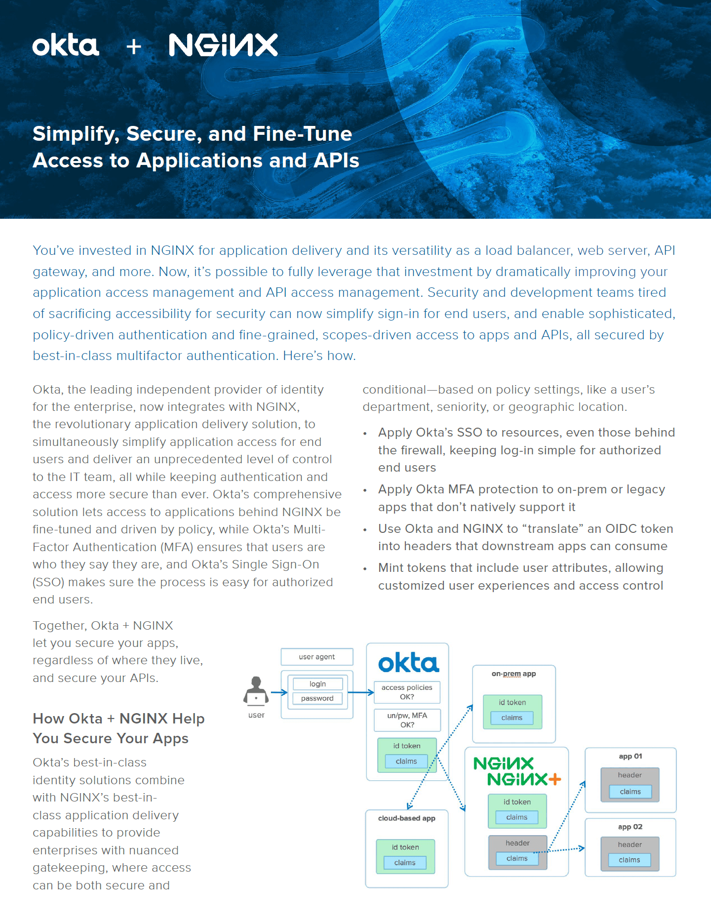 Okta and NGINX datasheet.
