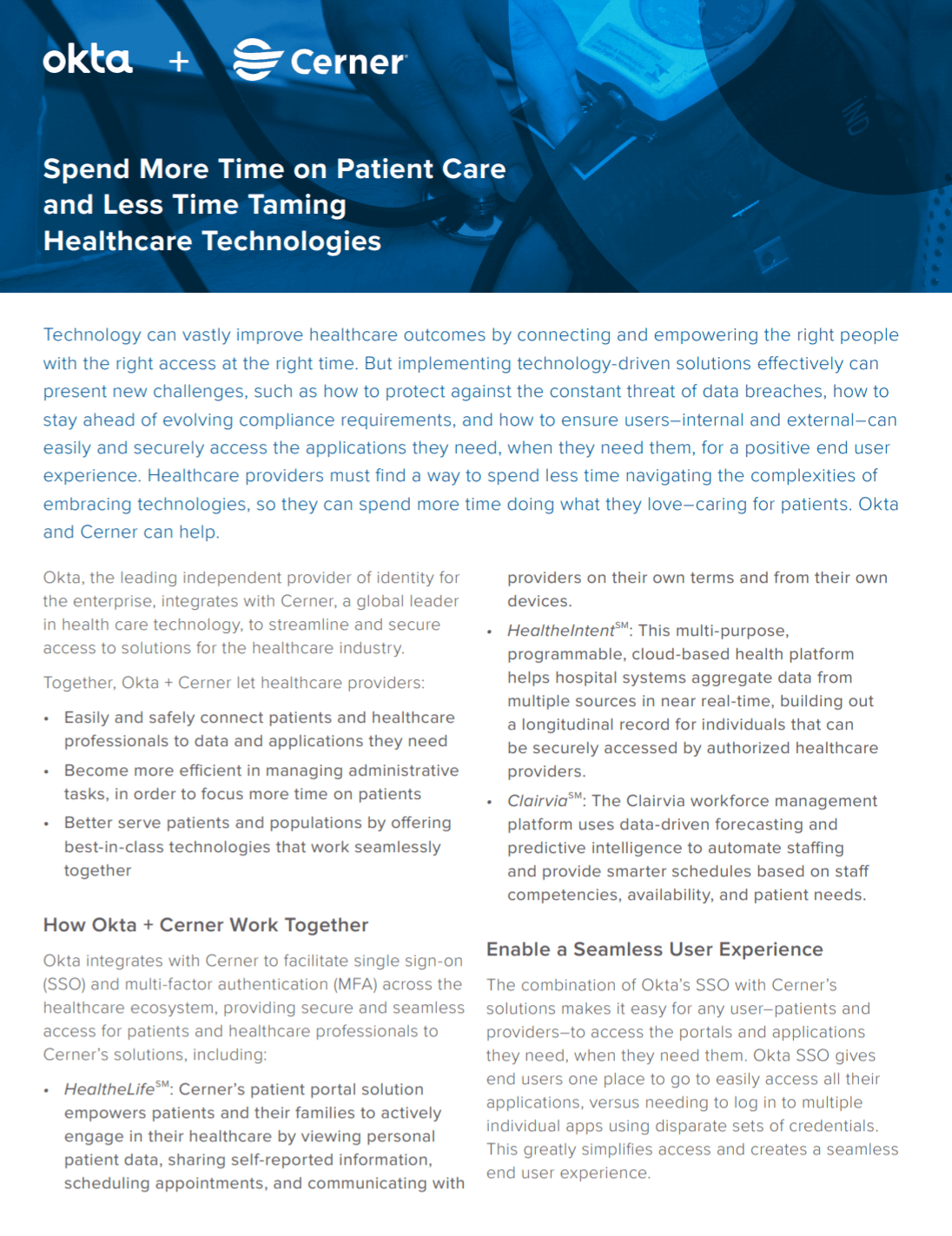 Okta + Cerner: Spend More Time on Patient Care and Less Time Taming Healthcare Technologies
