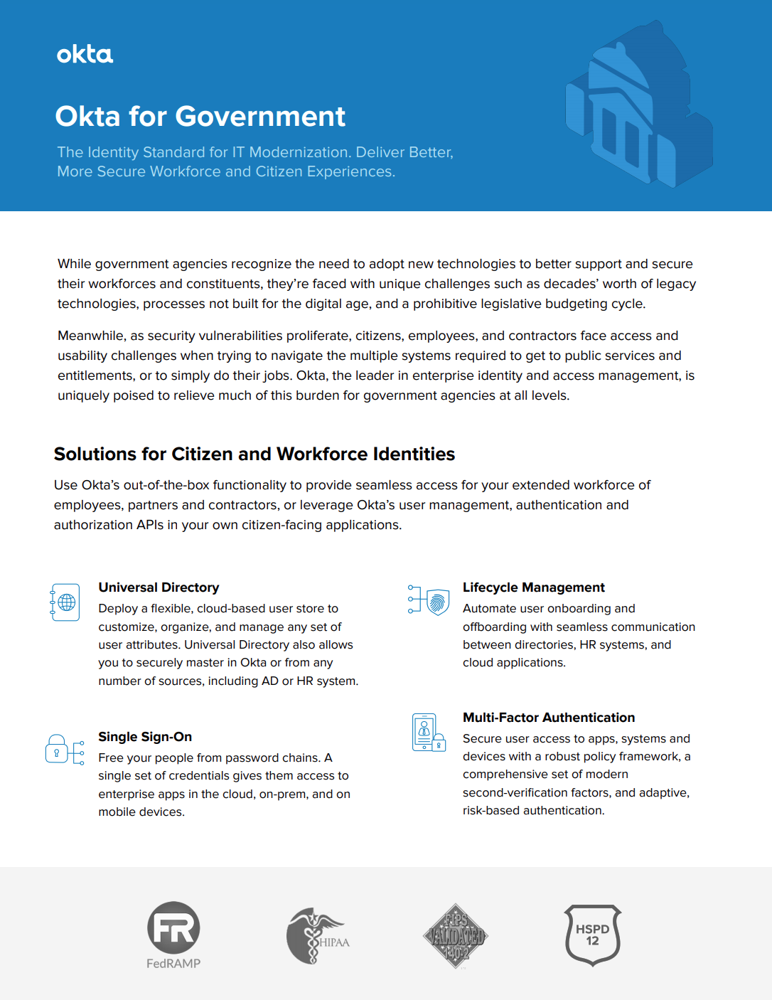 Identity and Access Management for Government