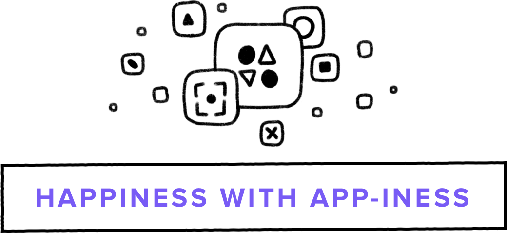 Happiness with App-iness header images