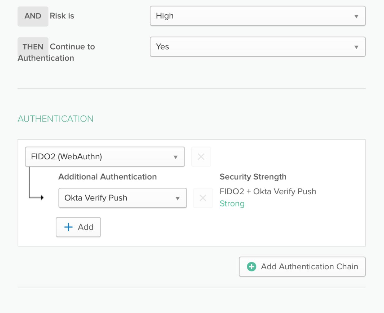 Okta Risk based Authentication