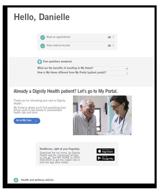 dignity health admin