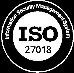 ISO 27018 Logo White