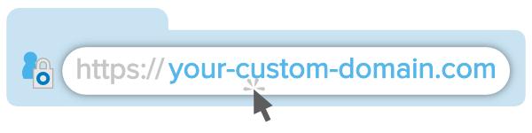 your custom url